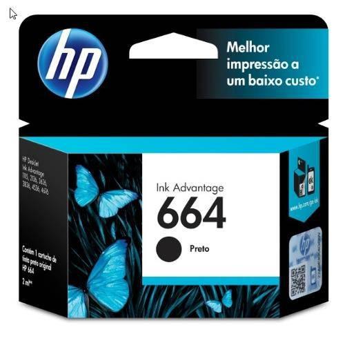 Cartucho de Tinta Ink Advantage Hp Suprimentos F6v29ab Hp 664 Pr