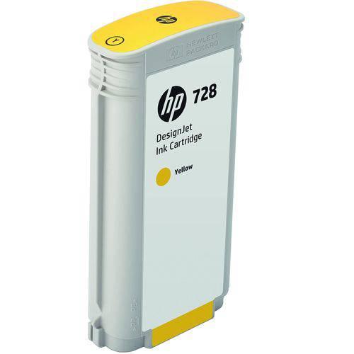 Cartucho de Tinta Plotter HP 728 130Ml Amarelo F9j65a Hp Suprimentos