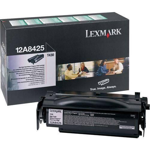 Cartucho de Toner Orig.lexmark 12a8425 Preto T430 Lexmark Unidade