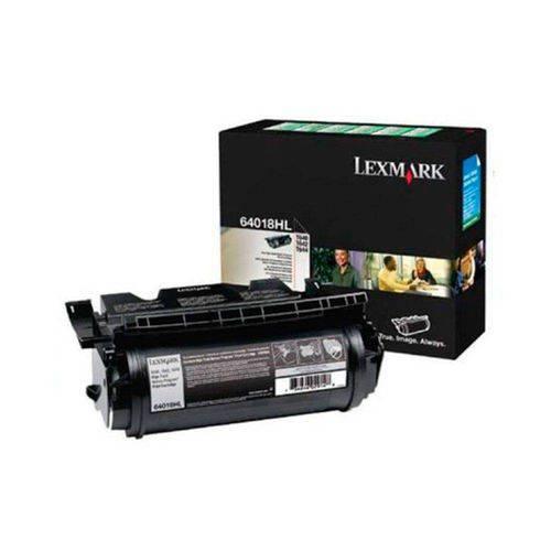 Cartucho de Toner T640 Lexmark Preto 64018HL Original