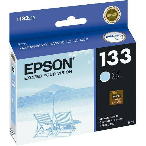 Cartucho Epson 133 T133220 Ciano - 5ml