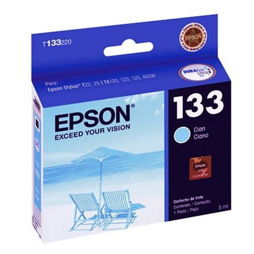 Cartucho Epson 133 | Tx123 | Tx125 | T133220 Ciano Original 5ml