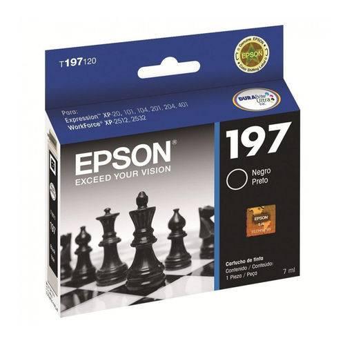 Cartucho Epson T197120 197 Preto 7ml