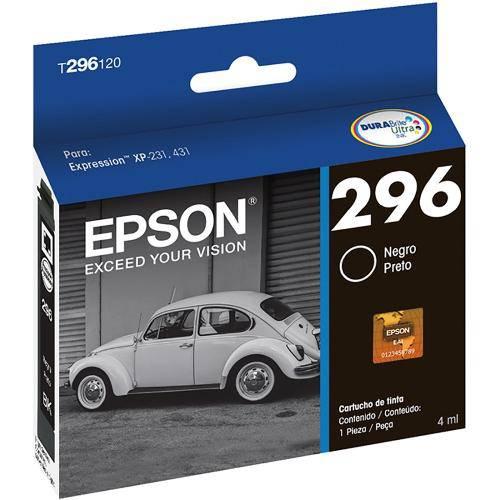 Cartucho Epson T296120br Preto 4ml
