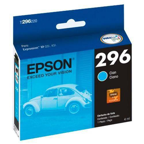 Cartucho Epson Xp 231 Xp 431 T296220 296 Cyan Origina
