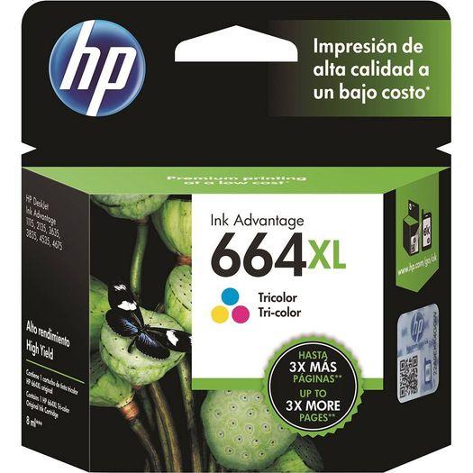 Cartucho Hp 664xl (F6v30ab) Colorido - 8ml