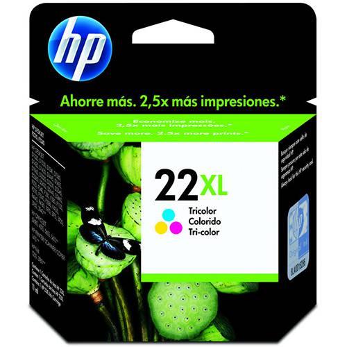 Cartucho de Tinta HP 22 XL Tricolor C9352CB - Original