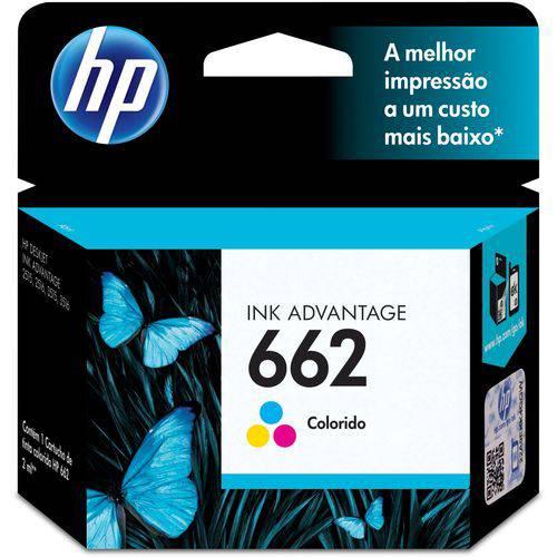 Cartucho Original Hp 662 Colorido Ink Advantage Hp Unidade