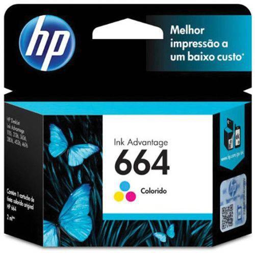 Cartucho Original Hp 664 Colorido Ink Advantage
