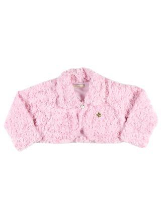 Casaco Bolero Infantil para Menina - Rosa