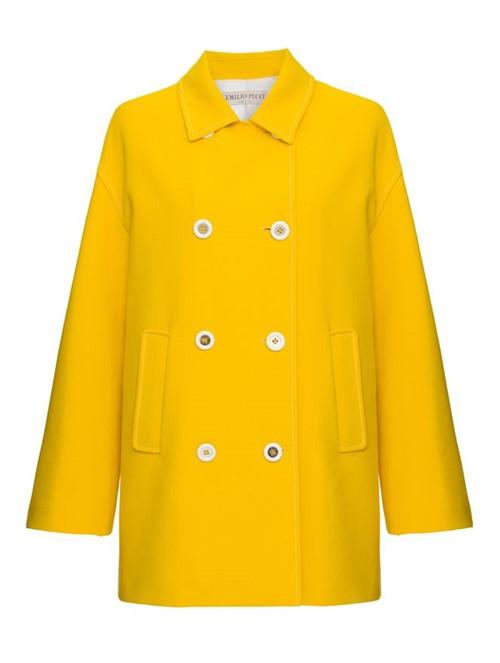 Casaco Botões Amarelo Tamanho 40