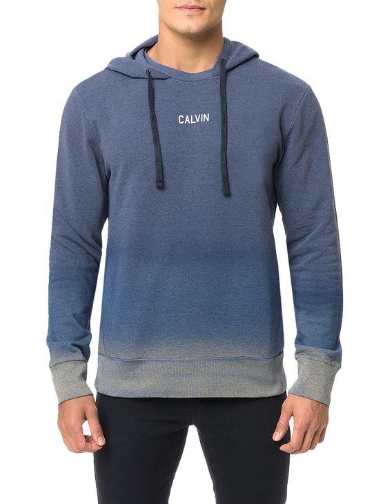 Casaco Calvin Klein Jeans Capuz Barra 2 Cores Marinho - G