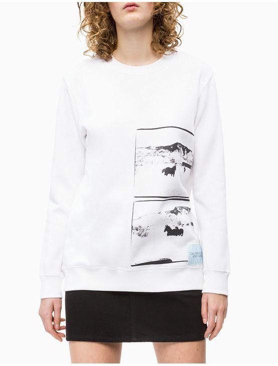 Casaco CKJ Fem Ml Andy Warhol Landscape - Branco 2 - PP