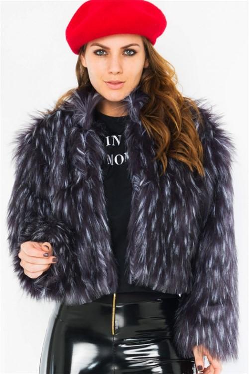 Casaco Feminino Faux Fur de Pelo Sintético CS0206 - Kam Bess