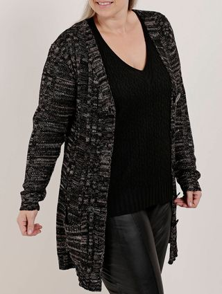 Casaco Plus Size Feminino Autentique Preto