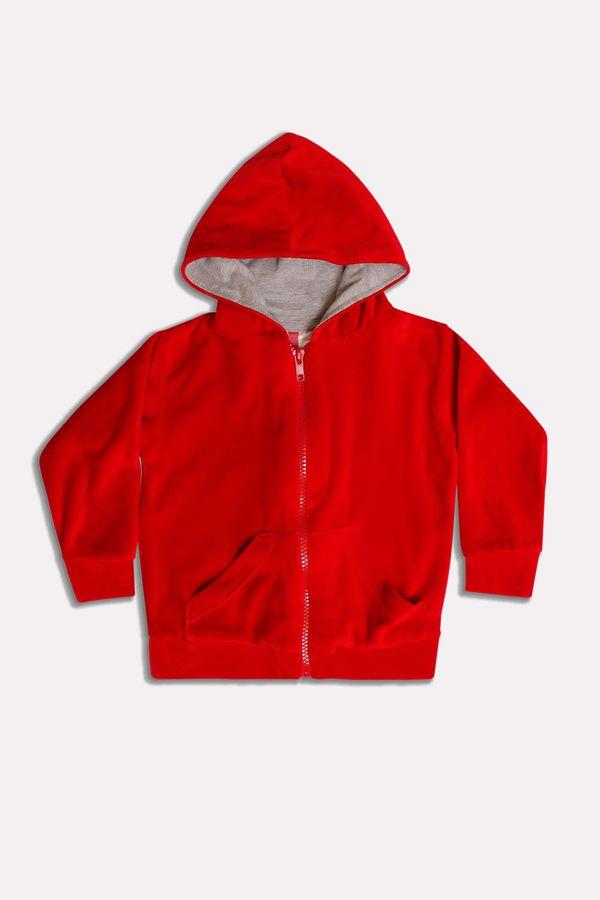 Casaco Plush Color 0 a 2 Anos - Bb Básico G - VERMELHO