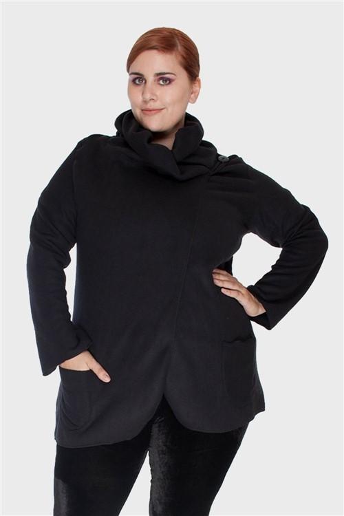 Casaco Soft Plus Size Preto-46/48