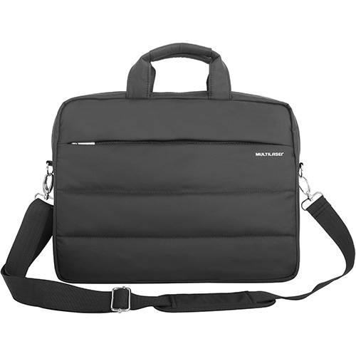 """Case de Nylon para Notebook Multilaser com Compartimento Extra Preto - Até 15,6"""""""