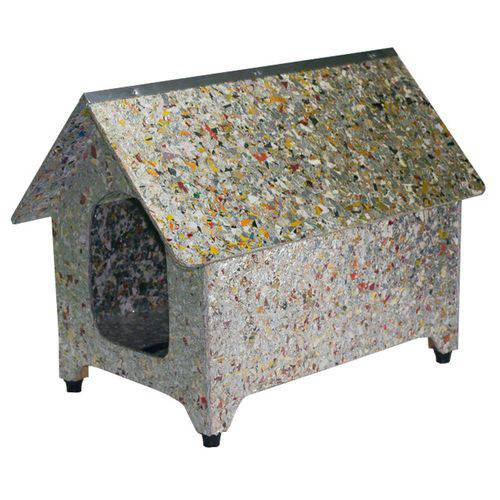 Casinha Cachorro Ecológica 2 Águas Cães Reciclada Nº1