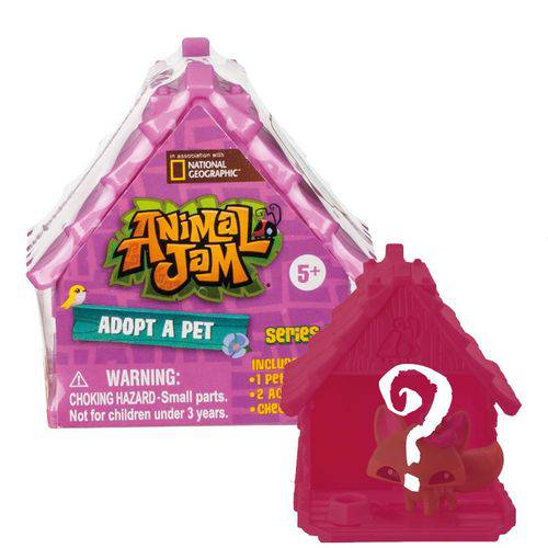 Casinha Surpresa - Animal Jam - Adote um Pet - Fun