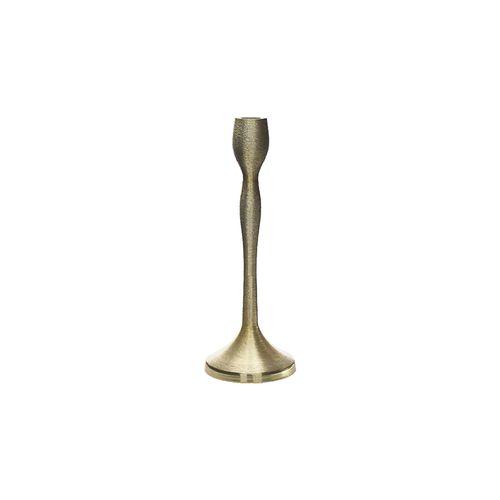 Castiçal Dourado Escovado 20cm