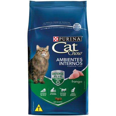 Cat Chow Ambientes Internos Sabor Frango 1Kg -