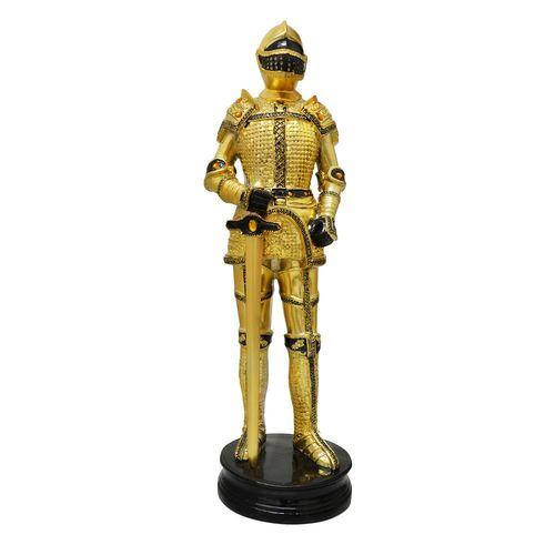 Cavaleiro Medieval com Espada Dourado 35 Cm