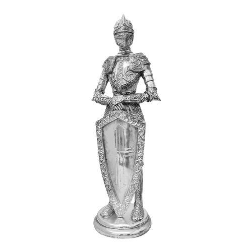Cavaleiro Templário com Escudo Prateado 36 Cm
