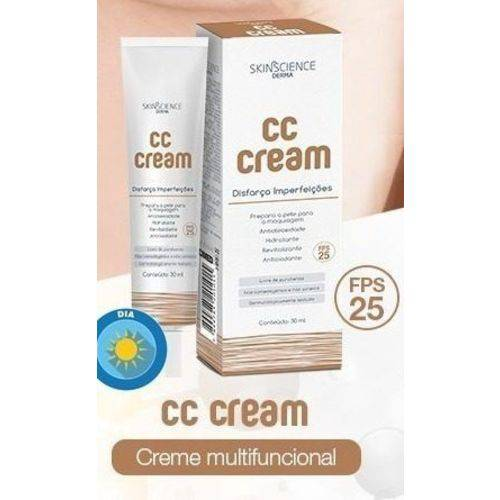 Cc Cream Skinscience Fps 25 Disfarça Imperfeições 30ml - Skinscience
