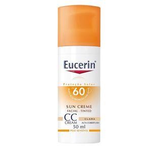 CC Cream Sun Creme Tinted FPS60 Eucerin - Protetor Solar Clara