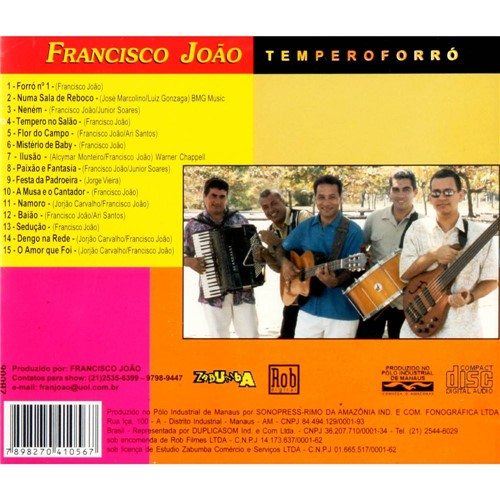 CD Francisco João - Tempero Forró