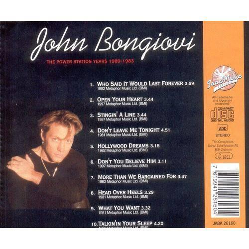 Cd John Bongiovi - The Power Station Years 1980-1983