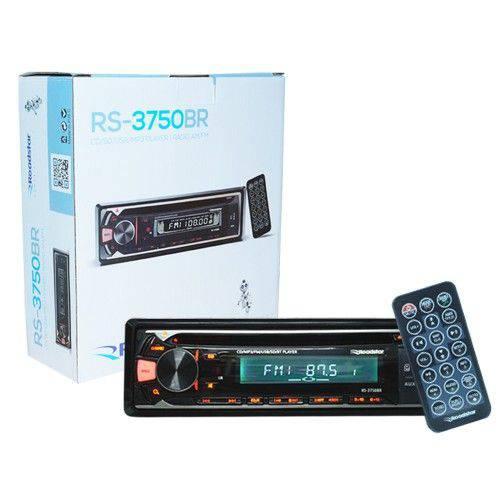 Cd Player Mp3 Automotivo Bluetooth Toca Som Roadstar Rs-3750br Fm Usb Sd Aux Controle