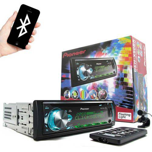 CD Player Pioneer Mixtrax DEH-X50BR USB AUX RDS Bluetooth Som Automotivo