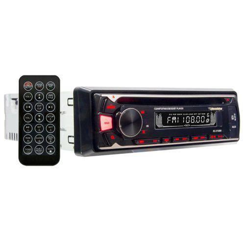 CD Player Roadstar RS3750BR CD SD USB Mp3 Rádio AM FM com Bluetooth Display 3 Cores