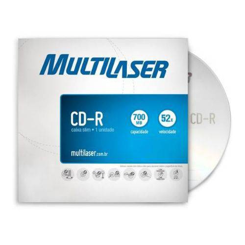 Cd-R Gravavel 700Mb 80 Minutos 52X Envelope C/25 Unidades - Multilaser