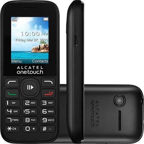 Celular Dual Chip Alcatel OT1050 Silver Desbloqueado 128MB Câmera VGA - Preto