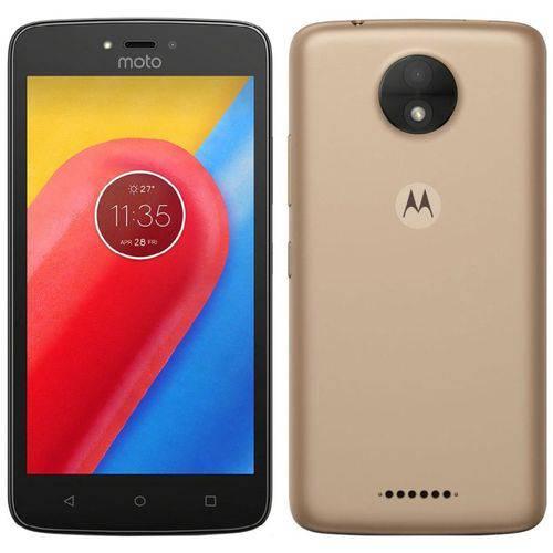 Celular Smartphone Motorola Moto C 16gb Dual Chip Dourado