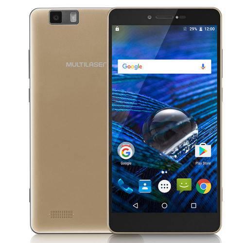 Smartphone Ms70 4g Dual Chip Android 6.0 Tela 5,85 Octa-core 64gb 16mp+8mp Multilaser Dourado P9037