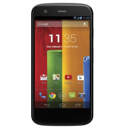 "Celular Smartphone Moto Motorola G Xt-1034 16GB 4.5"" 5MP Preto - Android 4.4.2"