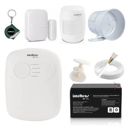 Central Alarme Anm 2003 Nao Monitorada + Acessórios Kit 3