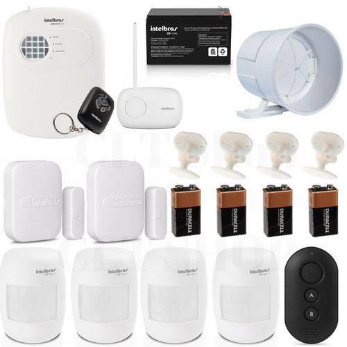 Central Alarme Anm 2004 Mf Nao Monitorada + Acessórios Kit 3