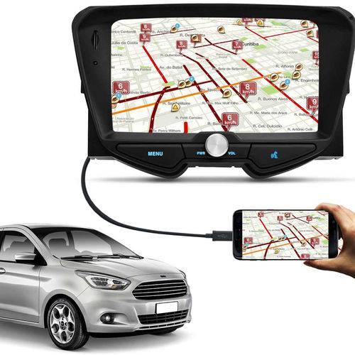 Central Multimídia Ka Hatch Ka+ Sedan 14 a 18 6 Pol Bluetooth Espelhamento Android IOS USB SD