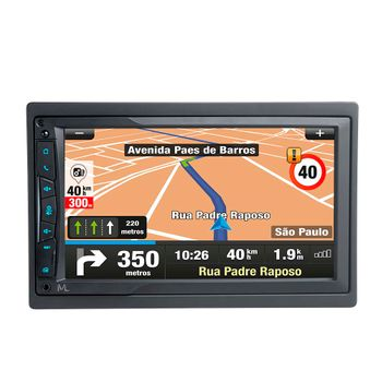 Central Multimídia Multilaser Evolve Link TV GPS Tela 7 Pol 4x45W RMS Preto – GP338 GP338
