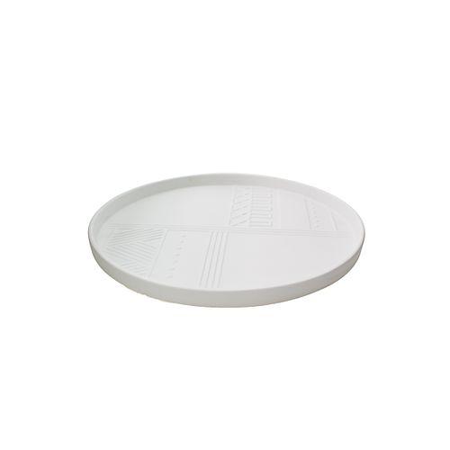 Centro de Mesa Branco Fosco Asurini 42cm - Asurini - Holaria Cerâmica