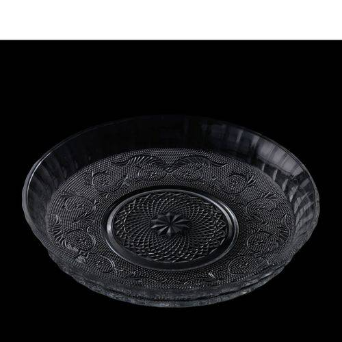 Centro de Mesa, Fruteira 29,5cm de Vidro Soco-Cálcico Ornamental Angel Lyor - L6721