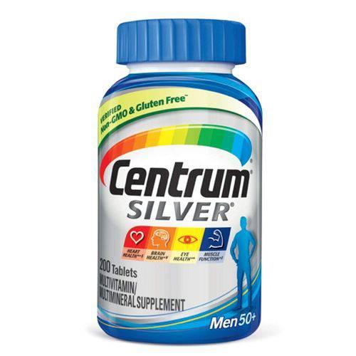 Centrum Silver Homem 50+ 200 Cápsulas - para Homens com 50 Anos ou Mais - Importado