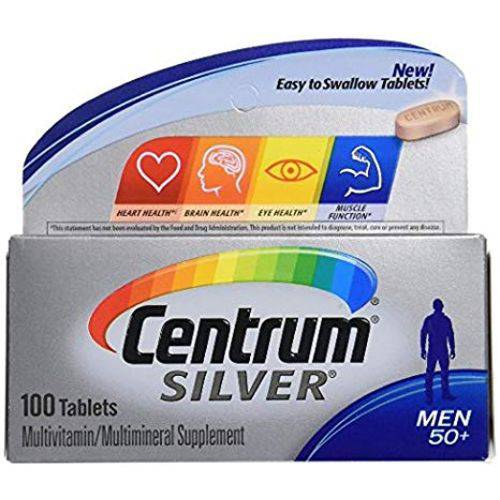 Centrum Silver Homem 50+ 100 Cápsulas - para Homens com 50 Anos ou Mais - Importado