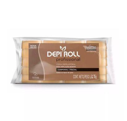 Cera Depilatória para Depilação Quente em Blocos Tradicional 1kg - Depi Roll