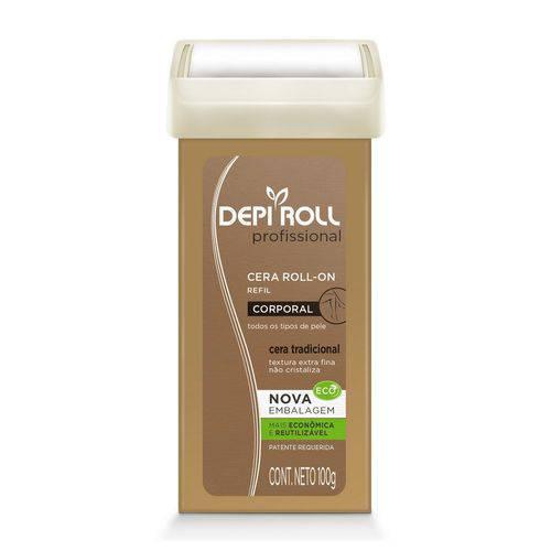 Cera Depilatória Refil Roll-on Depi Roll Tradicional 100g